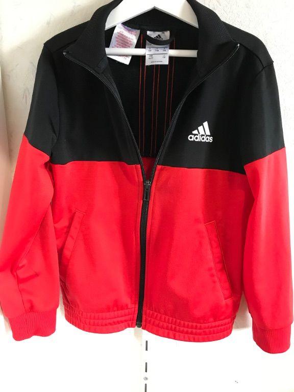 Trainingspak Adidas zwart met rood
