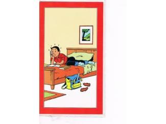 Suske en Wiske wenskaart – Suske maakt huiswerk op bed