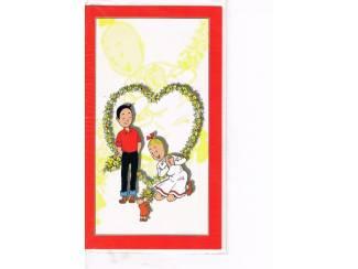 Suske en Wiske wenskaart – Suske en Wiske in een hartje