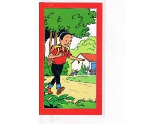 Suske en Wiske wenskaart – Suske wandelt met rugzak