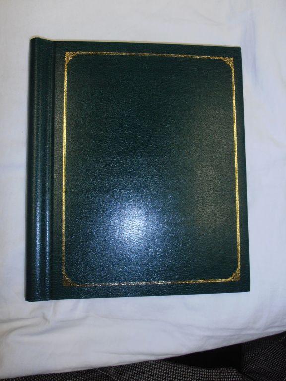 Foto album groen met 10 bladen.