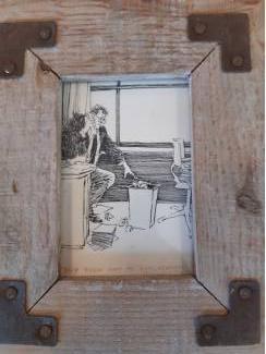 Woonaccessoires | Schilderijen en Lijsten 2x Houten Fotolijstjes