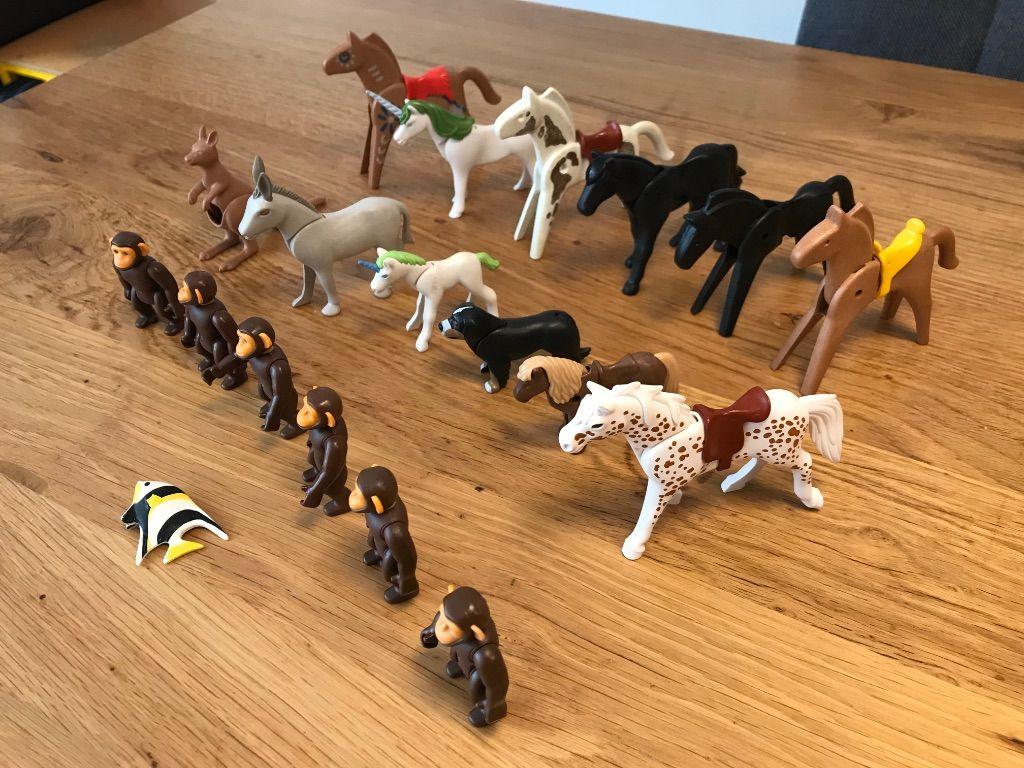 Zak met 19 Playmobil dieren