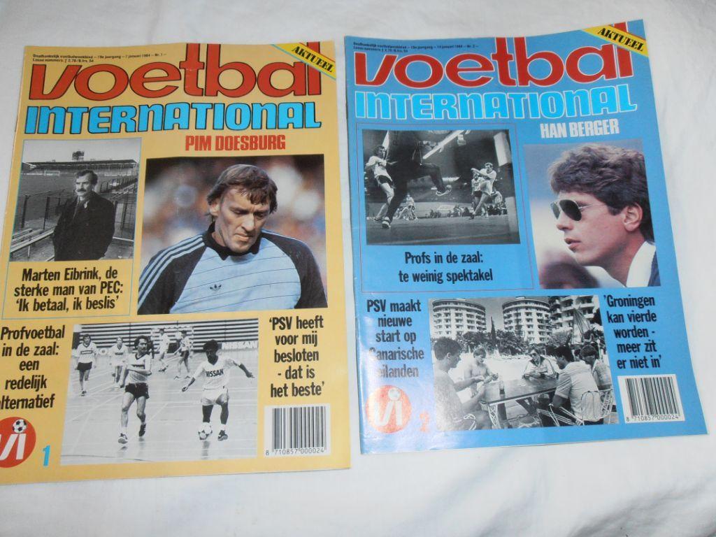 Collectie Voetbal International 1984 (doos 74)