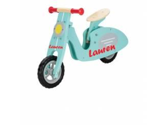 Speelgoed | Houten speelgoed Loopfiets retro stijl