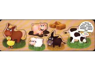Denksport en Puzzels Puzzelplankje  Boerderij dieren