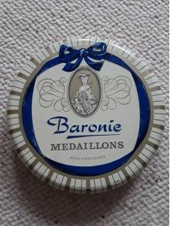 Oud blik van Baronie - ong. 16cm - retro  - vintage