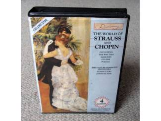 The World Of Strauss and Chopin 41 nrs 4 cassettes in box