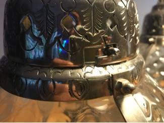 Lampen   Tafellampen 2 tafellampen   glas met zilverlook