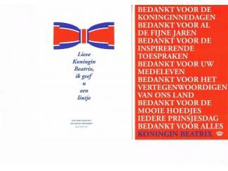 Bedankkaarten 2013 Koningin Beatrix