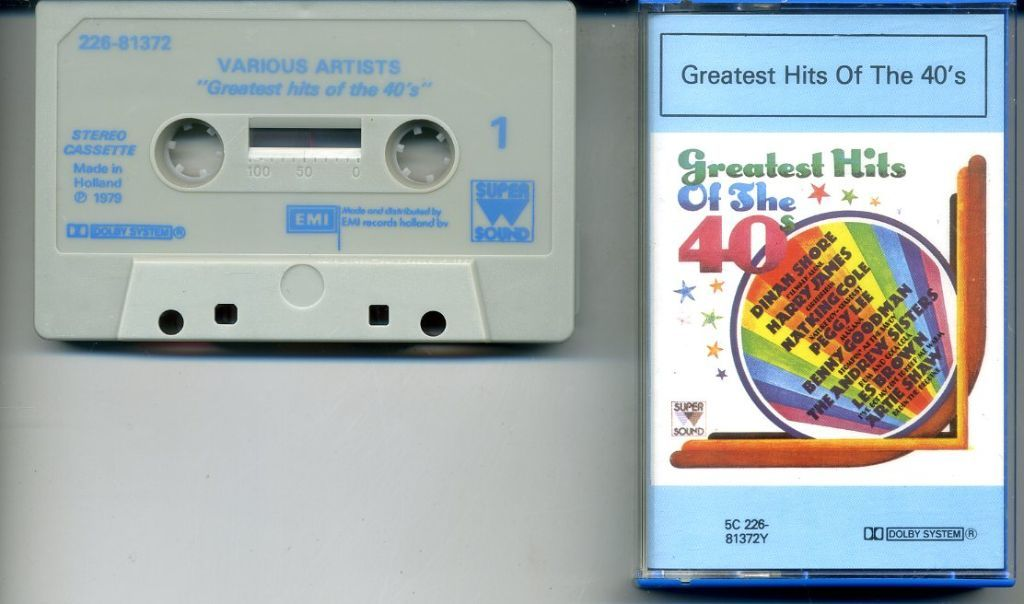 Greatest Hits Of The 40s 14 nrs cassette 1979 ZGAN