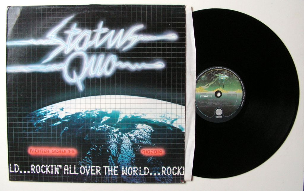 Status Quo Rockin' All Over The World 12 nrs LP 1977 MOOIE STAAT