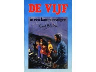 De Vijf 5 - De Vijf in een kampeerwagen - E. Blyton - blauw.