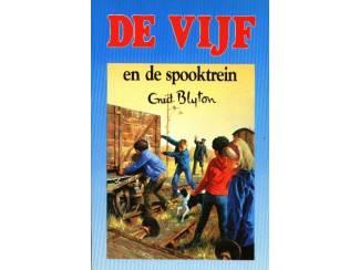 De Vijf dl 7 - De Vijf en de spooktrein - Enid Blyton - blauw