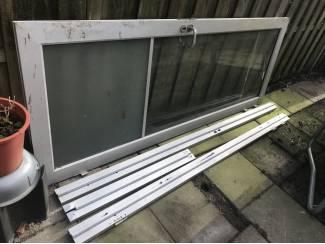 Deuren en Horren Grote Alu deur met kozijn 245 x 92cm