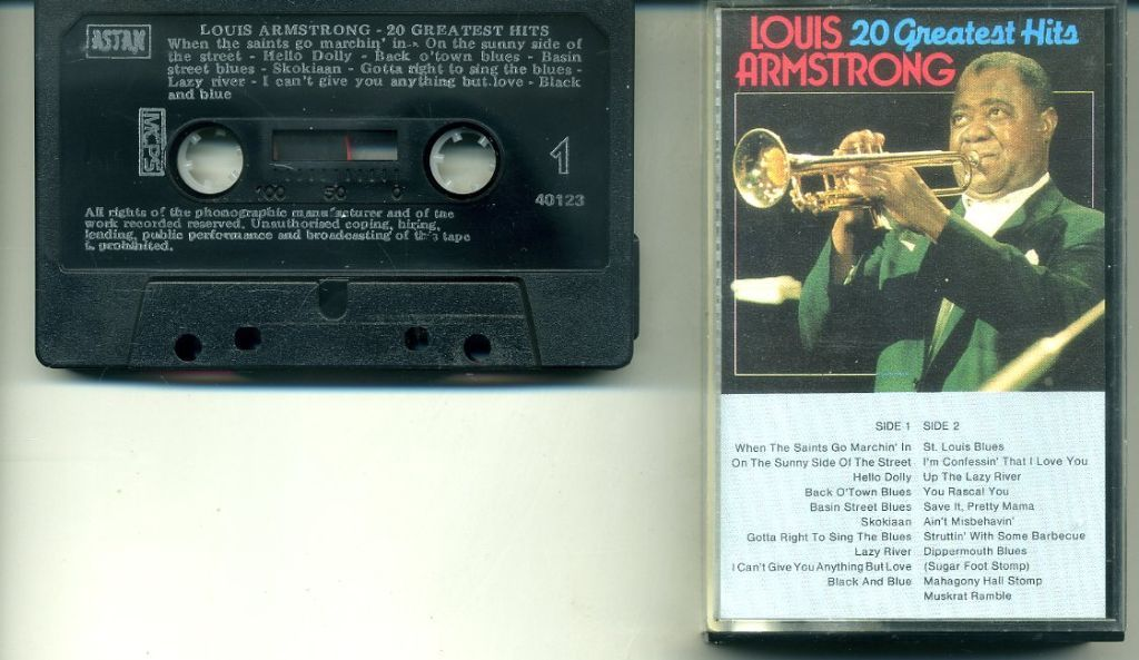 Louis Armstrong 20 Greatest Hits cassette ZGAN