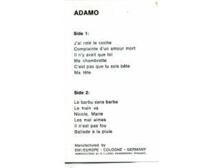 Cassettebandjes Adamo Listen to the music of Adamo 12 nrs cassette ZGAN