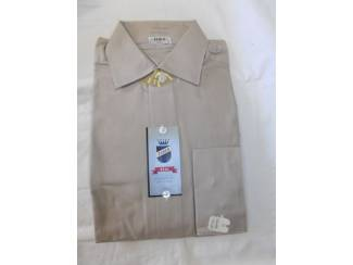 Vintage overhemd Fablo grijs/bruin maat 35