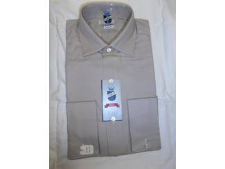 Vintage overhemd Fablo grijs/bruin maat 36