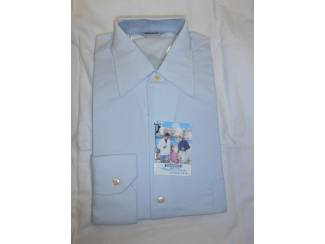 Vintage overhemd Trenco donker wit maat S