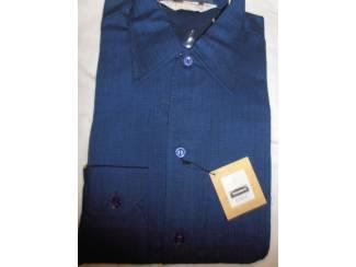 Vintage overhemd Trenco Essex donkerblauw maat S