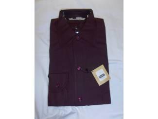 Vintage overhemd Trenco Essex wijnrood maat S