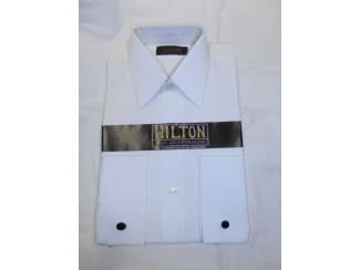 Vintage overhemd Hilton wit maat 36
