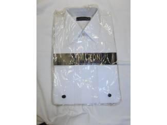 Kleding Vintage overhemd Hilton wit maat 36