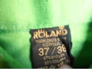 Kleding Vintage overhemd Roland groen maat 37/38