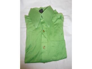 Vintage overhemd Roland groen maat 37/38