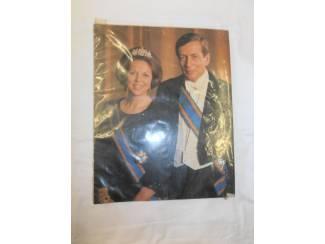 Kleurenfoto Beatrix en Claus