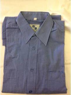 Vintage overhemd KCFS (voor GVB) blauw. Maat geschat 37/38