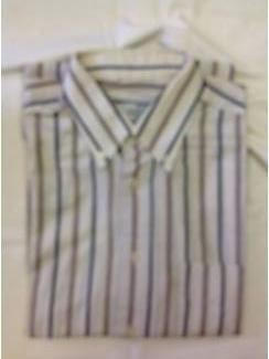 Vintage overhemd Emilio Sardrini button down streep maat 38