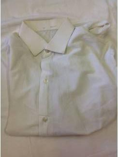 Vintage overhemd Tricony nylon wit maat 36