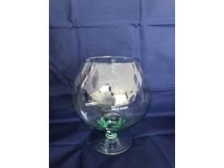 Plant decoratieglas model cognac glas bolvormig op voet
