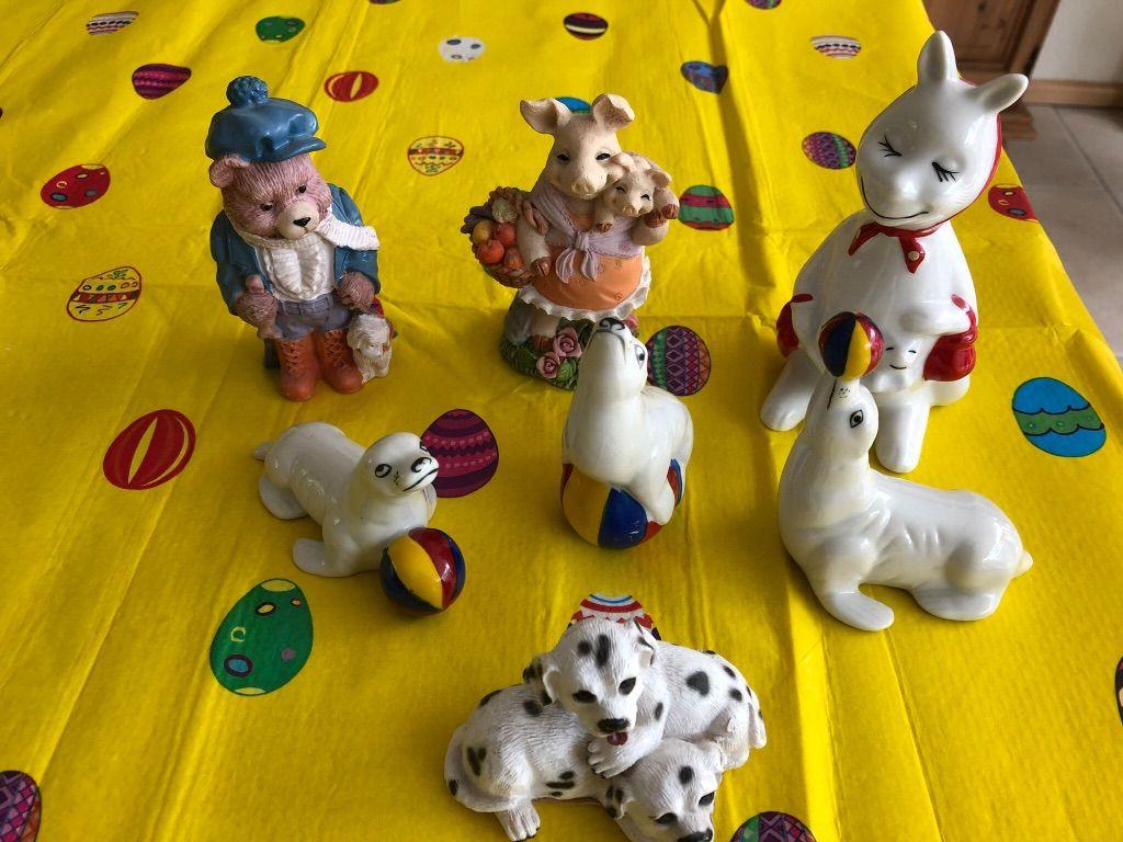 Beeld beer, zeehond, hond, kangoeroe