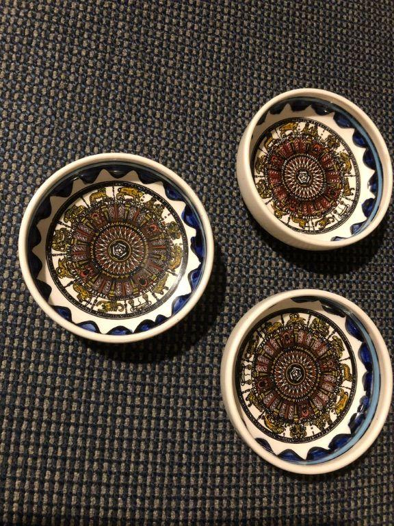 3 aardewerk bakjes bedoeïenen Oosten Israël schaaltjes set 3st