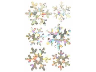 Raamsticker - 3d - Rainbow - Sneeuwvlokken
