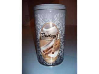 Blik  Cappuccino Cream wafer blik luxury ( geheel metaal )
