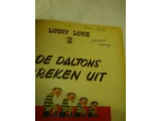 Stripboeken Lucky Luke deel 15 De Daltons breken uit. 1e druk 1960.