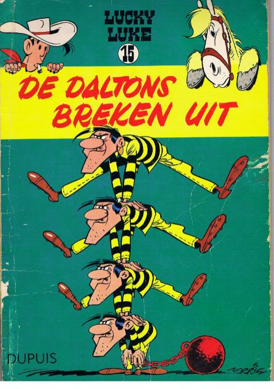Lucky Luke deel 15 De Daltons breken uit. 1e druk 1960.