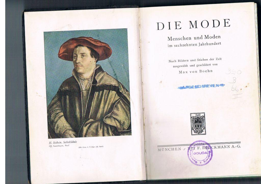 Die Mode im sechzehnten Jahrhundert.