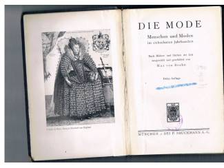 Antiquarische boeken Die Mode im siebzehnten Jahrhundert.