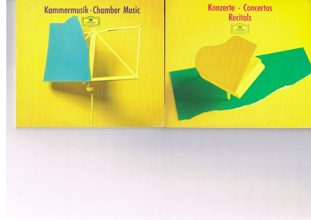 4 catalogi CD's van DGG