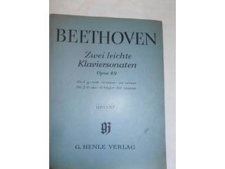 Bladmuziek 08. Beethoven. Zwei leichte Klaviersonaten Opus 49.