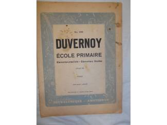 Bladmuziek 19. Duvernoy école primaire opus 176.