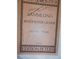 Bladmuziek 25. Sammlung berühmter Lieder. Sopran – Tenor.