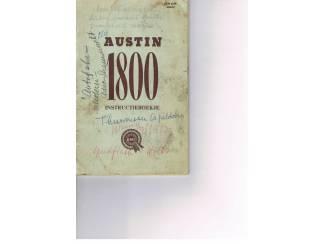 Handleiding Austin 1800.