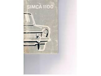 Handboek Simca 1100 (A)