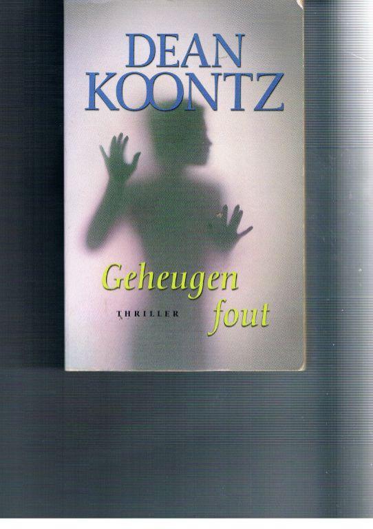 Geheugenfout – Dean Koontz